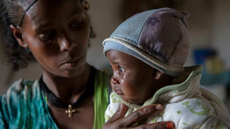 Children are at risk of starving to death as the conflict continues