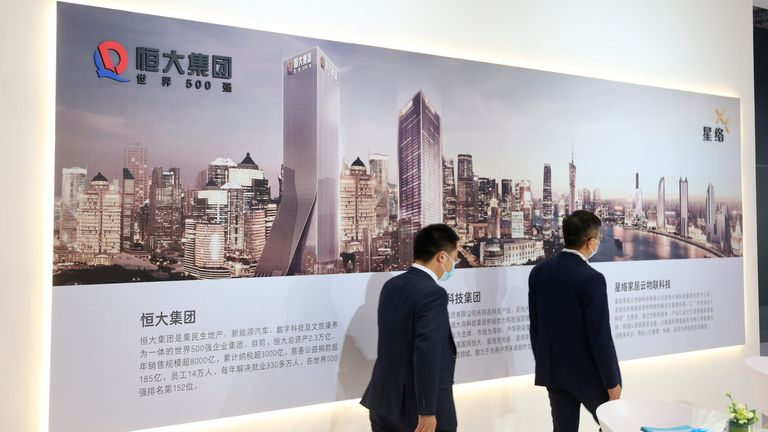 Evergrande Group's interests have expanded beyond real estate to include wealth management and even electric car production. Pic: AP