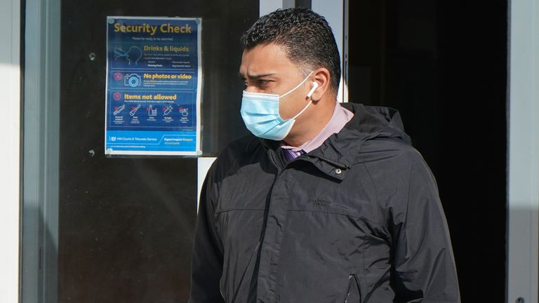 GP Rumi Chhapia arrives at Portsmouth Magistrates' Court where he is charged in connection with an allegation that funds were transferred from the Portsmouth Primary Care Alliance Limited into an individuals private account. Picture date: Wednesday September 22, 2021.