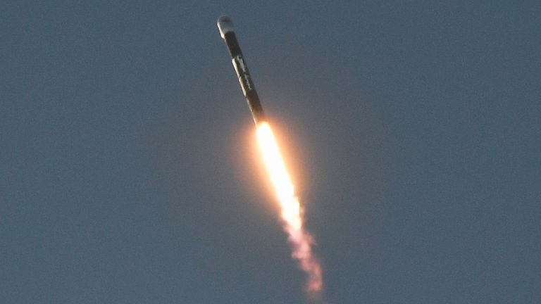 Firefly Aerospace's first Alpha rocket lifts off minutes before suffering a catastrophic anomaly during its first launch leading to the loss of the vehicle 2 minutes, 30 seconds after liftoff from Vandenberg Space Force Base, California, U.S. September 2, 2021. REUTERS/Gene Blevins