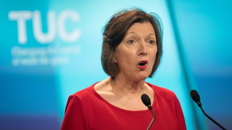 Frances O'Grady will claim workers could have been nearly £6,000 a year better off now