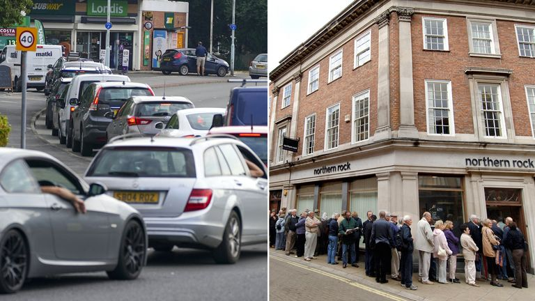 The current fuel crisis and Northern Rock in 2007