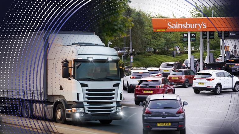 The HGV driver shortage has led to long queues at petrol stations