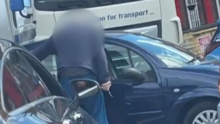 Man with knife at a Welling petrol station in southeast London