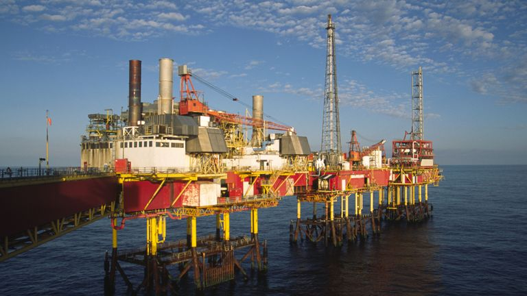 Gas Production Platform in southern North Sea Pic Alamy