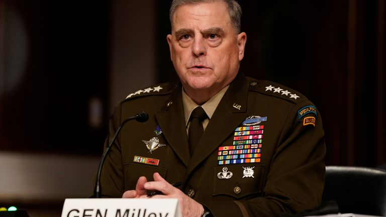 General Milley said he thought US credibility was being 'intensely reviewed'