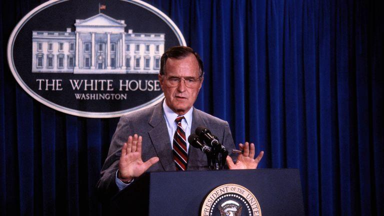 George Bush senior. Pic: AP