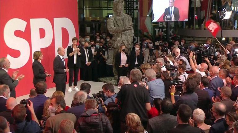 Germany's Social Democrats cheer exit poll