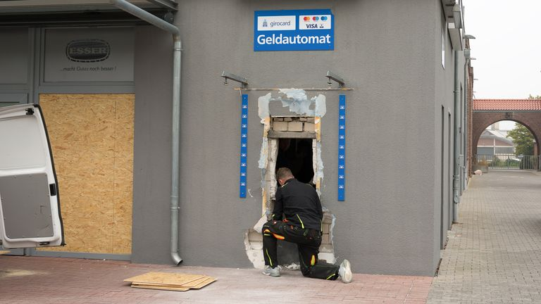 The gang has been linked to at least 15 ATM attacks in Germany, costing millions of Euros in damage