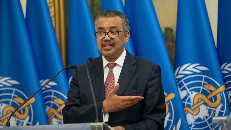 """Tedros Adhanom Ghebreyesus previously called for a """"moratorium"""" on booster shots until the end of September, but wealthy countries like the UK are currently considering giving booster jabs to vulnerable people"""