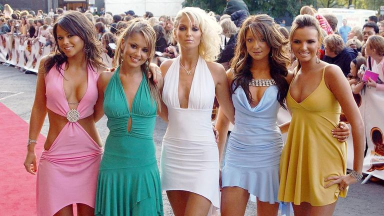 Girls Aloud arrive for the Disney Channel Kids Awards 2004, held at the Royal Albert Hall, central London.