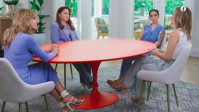 Sitting at the round red table with her co-hosts - daughter Emily Estefan and niece Lili Estefan - Estefan opened up about the abuse. Pic: AP