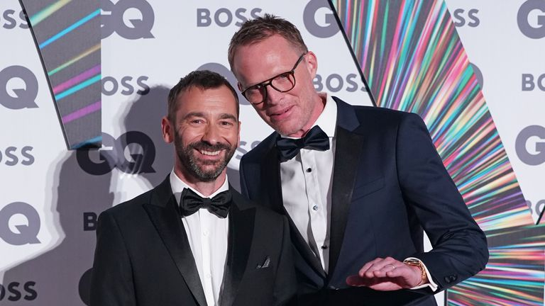 Charlie Condou (left) and Paul Bettany at the awards