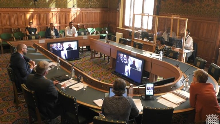 Home Affairs Committee inquiry Anton Ferdinand and Former England international Lianne Sanderson giving evidence to the Home Affairs Committee inquiry into online racist abuse.