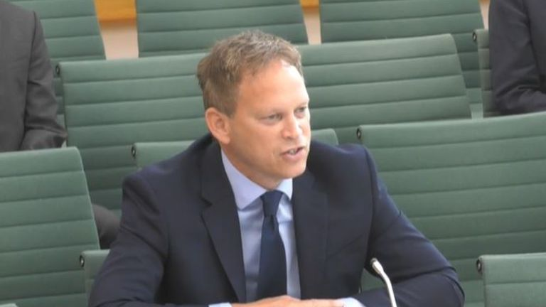 Grant Shapps faced questions by senior MPs of the Transport Committee on Wednesday