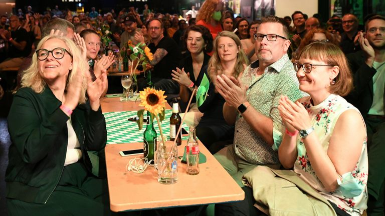 The Green Party could have its best result yet in Germany. Pic: AP