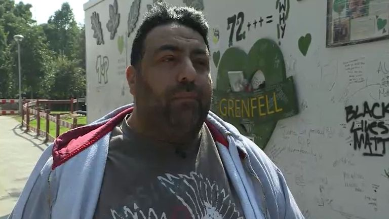 Nabil Choucair lost six relatives in the 2017 fire