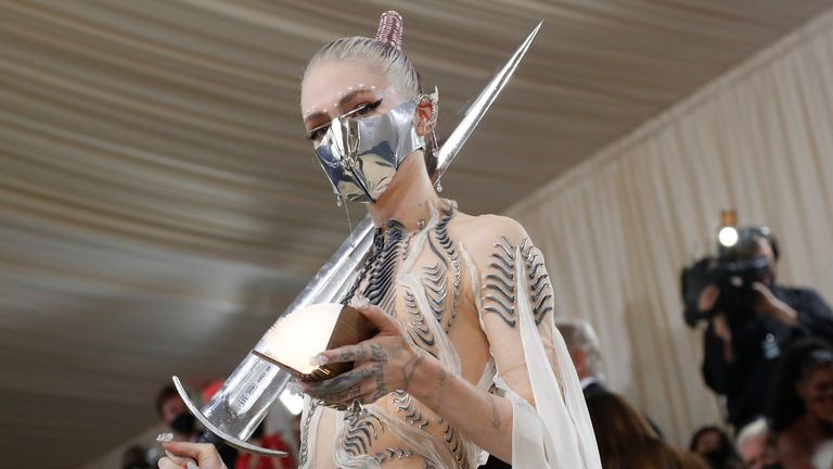 Metropolitan Museum of Art Costume Institute Gala - Met Gala - In America: A Lexicon of Fashion - Arrivals - New York City, U.S. - September 13, 2021. Grimes. REUTERS/Mario Anzuoni