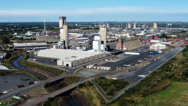 general view of the CF industries plant in Billingham, Britain September 22, 2021.