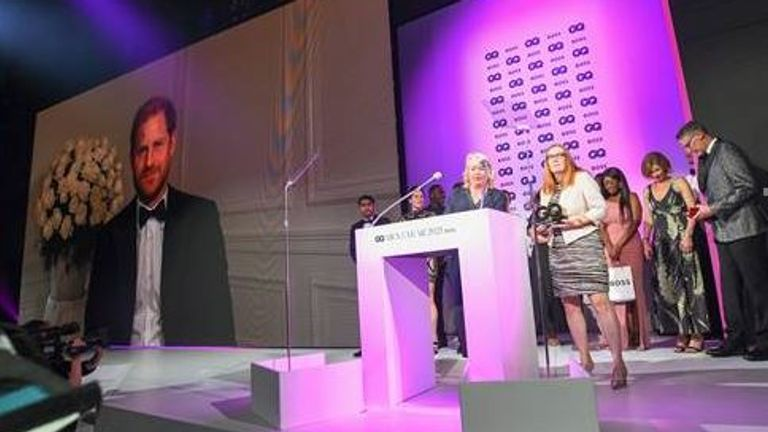 Prince Harry's video message at the GQ awards :Pic GQ Men Of The Year Awards 2021 in association with BOSS