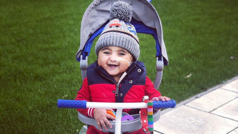 The two-year-old was born with kidney failure