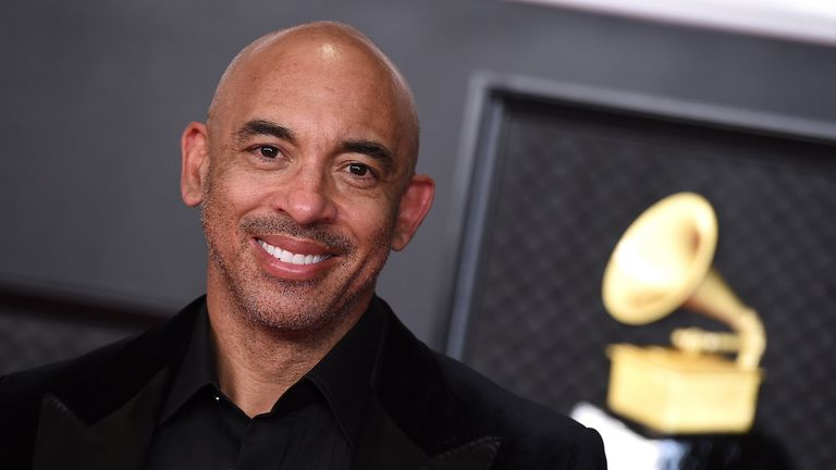 Producer and songwriter Harvey Mason Jr at the Grammy Awards in LA in March 2021. Pic: Jordan Strauss/Invision/AP