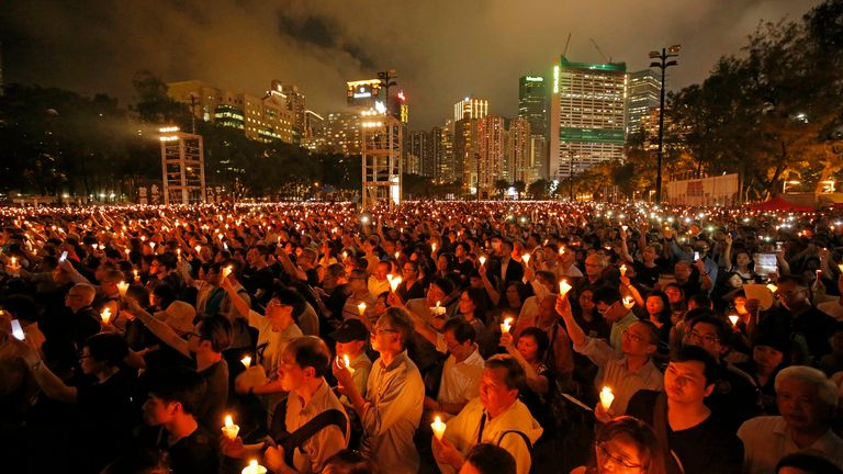 Tens of thousands of people would would attend the annual vigil