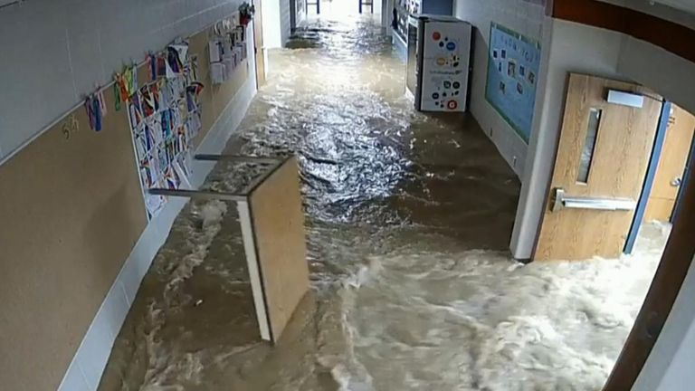 """A county school corporation in Dubois, Indiana, has thanked """"volunteers, staff members, and […] our great community"""" for their cleanup efforts after severe flash flooding hit a local school on August 30."""