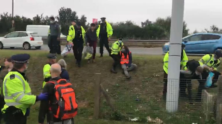 Police arrested people trying to block the M25 at Dartford