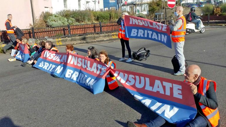 Demonstrators have blocked the A20 in Kent