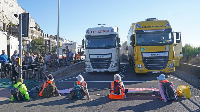 Drivers hoping to cross the Channel are now stuck in long queues because of the climate crisis