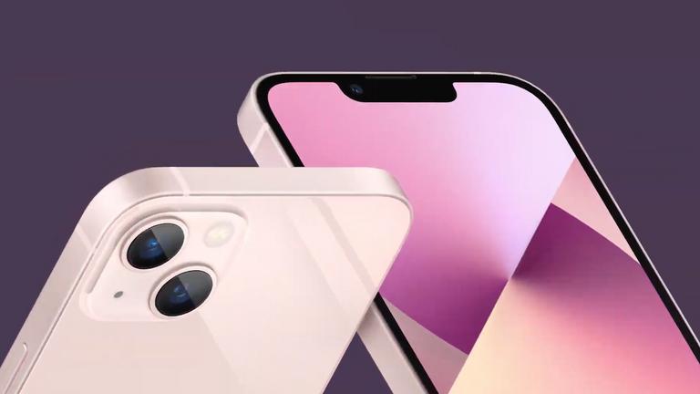 The iPhone 13 has a new diagonally-aligned dual-camera array