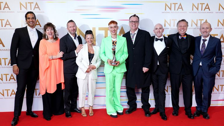 The phenomenal It's A Sin won the new drama trophy