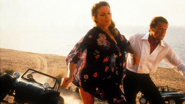 For Your Eyes Only (James Bond), Cassandra Harris, Roger Moore  Moviestore/Shutterstock