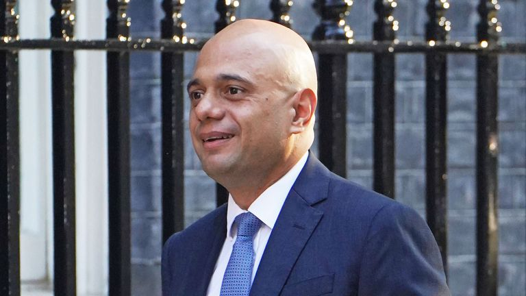 Health Secretary Sajid Javid arriving in Downing Street, London, ahead of the government's weekly Cabinet meeting. Picture date: Tuesday September 7, 2021.