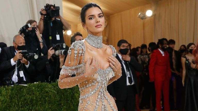 Metropolitan Museum of Art Costume Institute Gala - Met Gala - In America: A Lexicon of Fashion - Arrivals - New York City, U.S. - September 13, 2021. Kendall Jenner. REUTERS/Mario Anzuoni