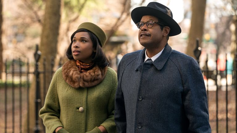 Jennifer Hudson as Aretha Franklin and Forest Whitaker as her father CL Franklin in Respect. Pic. Quantrell D Colbert/Metro-Goldwyn-Mayer Pictures