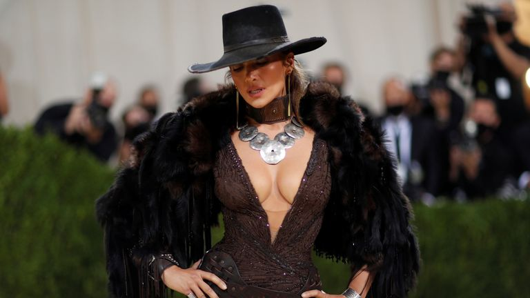 Metropolitan Museum of Art Costume Institute Gala - Met Gala - In America: A Lexicon of Fashion - Arrivals - New York City, U.S. - September 13, 2021. Jennifer Lopez. REUTERS/Mario Anzuoni TPX IMAGES OF THE DAY