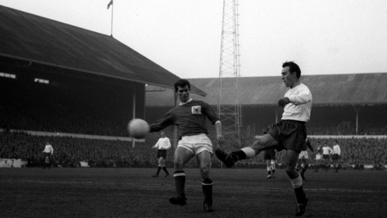 Jimmy Greaves in action for Tottenham Hotspur at White Hart Lane in 1965