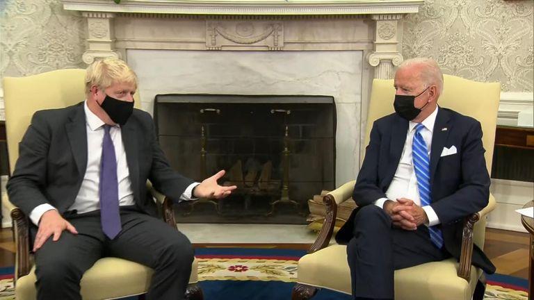 Joe Biden and Boris Johnson