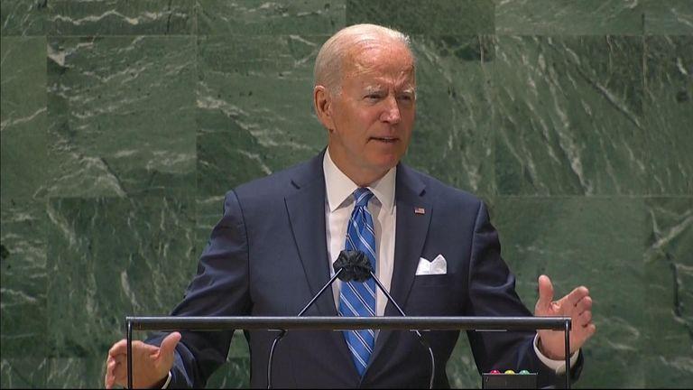 Joe Biden speaks at the UN