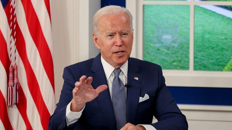 U.S. President Joe Biden hosts a virtual coronavirus disease (COVID-19) Summit as part of the United Nations General Assembly (UNGA)