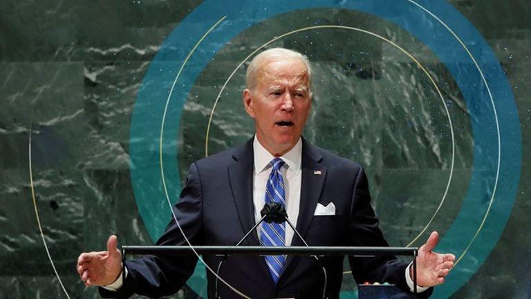 U.S. President Joe Biden addresses the 76th Session of the U.N. General Assembly in New York City U.S. President Joe Biden addresses the 76th Session of the U.N. General Assembly in New York City, U.S., September 21, 2021. REUTERS/Eduardo Munoz/Pool