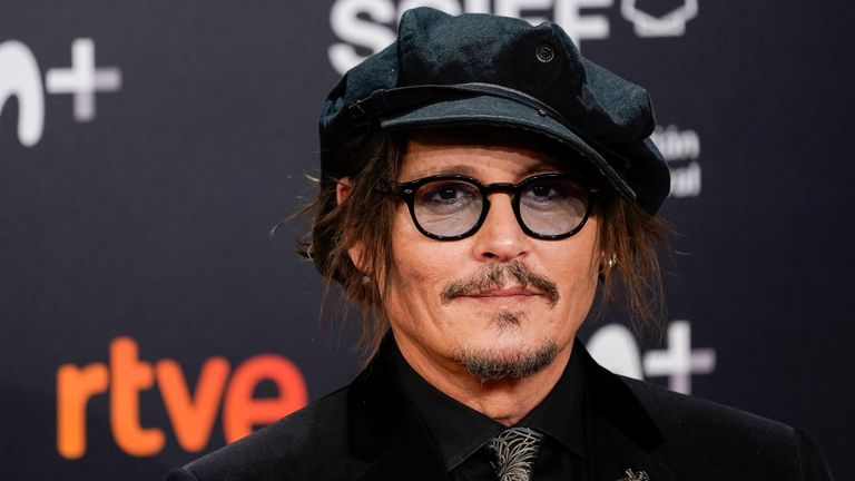 Actor Johnny Depp appears on the red carpet ahead of receiving the Donostia Award at the 69th San Sebastian International Film Festival