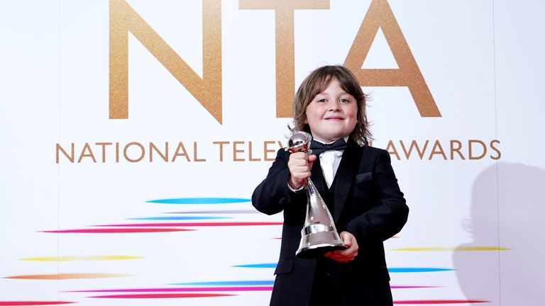Jude Riordan from Coronation Street bagged the newcomer gong