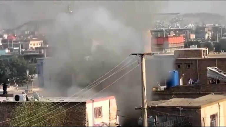 Kabul drone strike by US 29 August