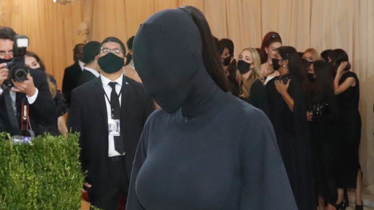 Metropolitan Museum of Art Costume Institute Gala - Met Gala - In America: A Lexicon of Fashion - Arrivals - New York City, U.S. - September 13, 2021. Kim Kardashian. REUTERS/Mario Anzuoni