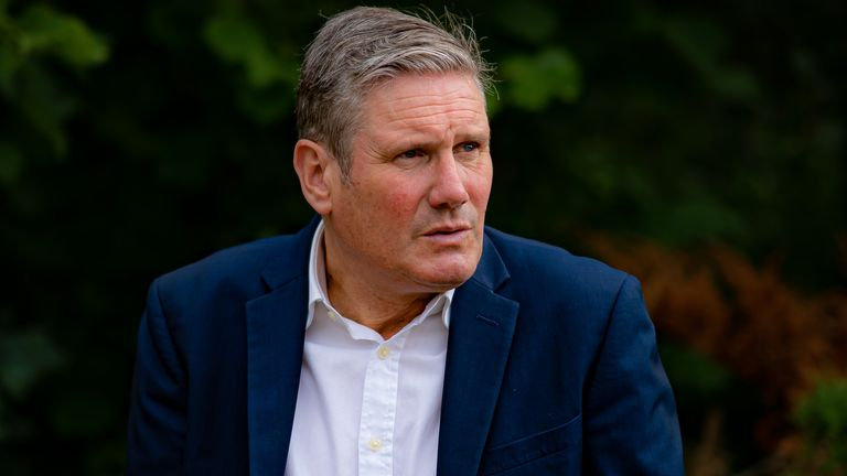Labour Party leader Sir Keir Starmer during a visit to Stroud General Hospital in Gloucestershire. Picture date: Wednesday August 11, 2021