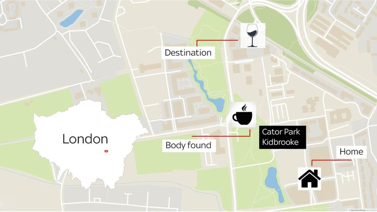 The main locations in the investigation