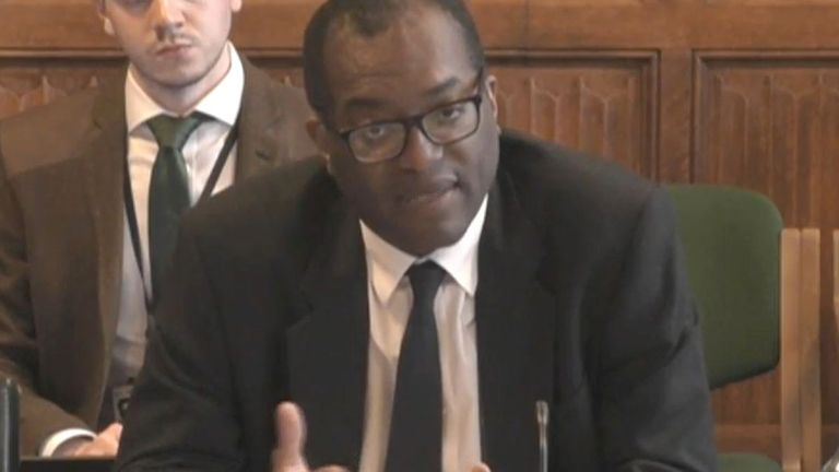 Business Secretary Kwasi Kwarteng giving evidence to the Business, Energy and Industrial Strategy Committee in the House of Commons, London, on the subject of the UK Gas Market. Picture date: Wednesday September 22, 2021.